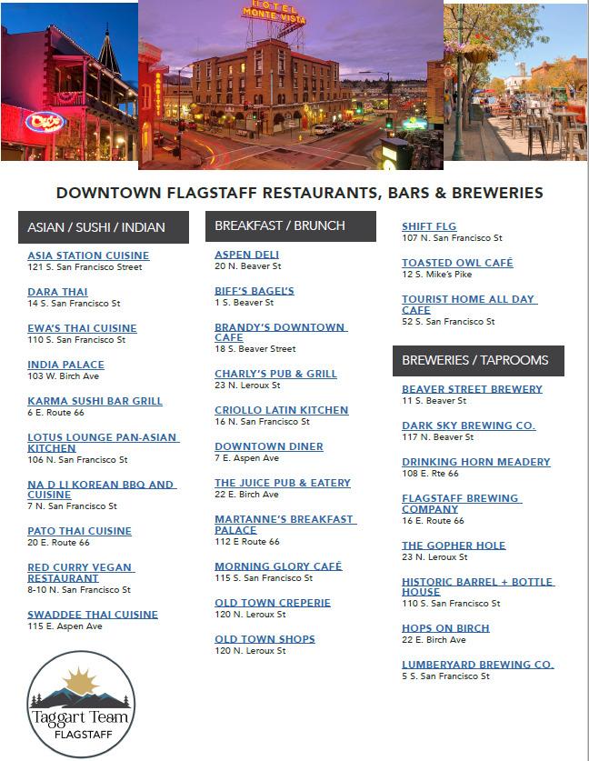 Flagstaff Restaurants Cover Image