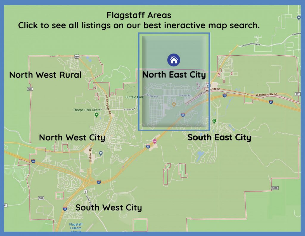 Map Of Arizona Listing Cities.North East City Properties Eileen Taggart Flagstaff Real Estate