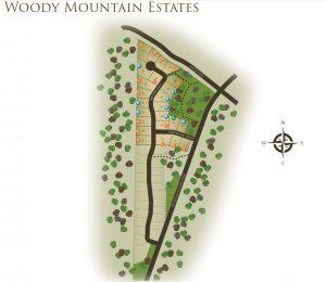 Woody Mountain Estates Map