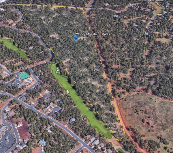 Woody Mountain Google Earth